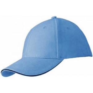 RIDER šesťpanelová šiltovka značkySLAZENGER, svetlo modrá