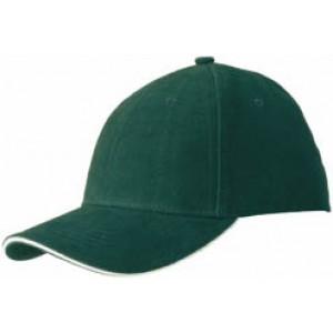 RIDER šesťpanelová šiltovka značkySLAZENGER, tmavo zelená