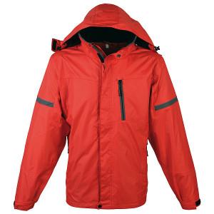 SCHWARZWOLF BONETE prechodná pánska bunda, červená L
