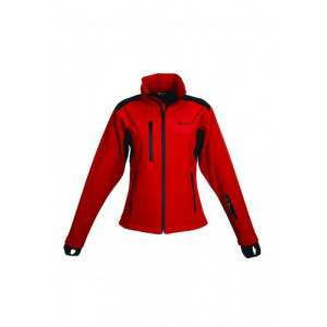 Schwarzwolf breva dámska bunda, logo na hrudi, červená M