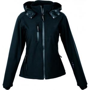 SCHWARZWOLF BREVA dámska bunda, logo vzadu, čierna S