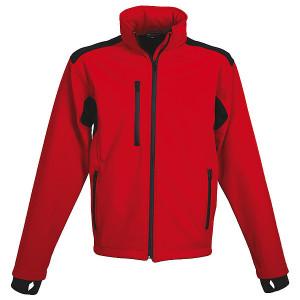 SCHWARZWOLF BREVA pánska bunda, logo vzadu, červená XXL
