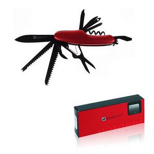 SCHWARZWOLF CAVALI multifunkčné náradie, 11 ks, červená