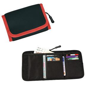SCHWARZWOLF COIN neoprénová peňaženka, červená