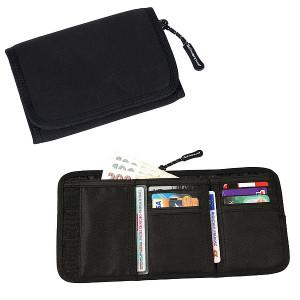 SCHWARZWOLF COIN neoprénová peňaženka, čierna