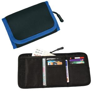 SCHWARZWOLF COIN neoprénová peňaženka, modrá