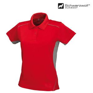 SCHWARZWOLF PALISADE dámska polokošeľa, červená/sivá XL