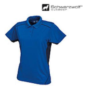 SCHWARZWOLF PALISADE dámska polokošeľa, kráľovsky modrá/námornícka modrá XL