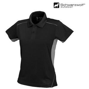 SCHWARZWOLF PALISADE pánska polokošeľa, čierna/sivá XL