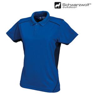 SCHWARZWOLF PALISADE pánska polokošeľa, kráľovsky modrá/námornícka modrá S