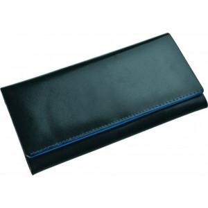 SENATA veľká dámska kožená peňaženka, modrá