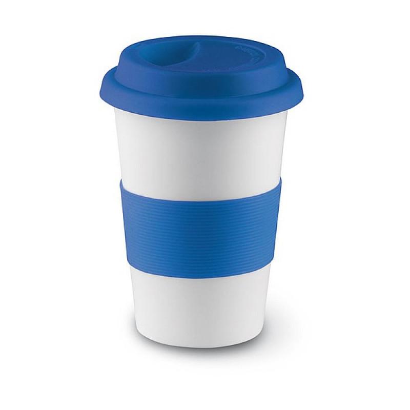 SENORA hrnček s vrchnákom, 0,4 l, modrá