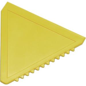ŠKRABKA trojuholníková plastová autoškrabka, žltá