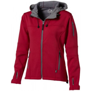SLAZENGER MATCH LADIES SOFTSHELL JACKET červená M
