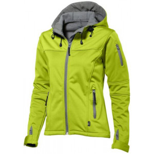 SLAZENGER MATCH LADIES SOFTSHELL JACKET zelená L