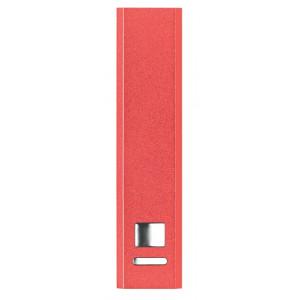 SONATA hliníková powerbanka 2000 mAh, červená
