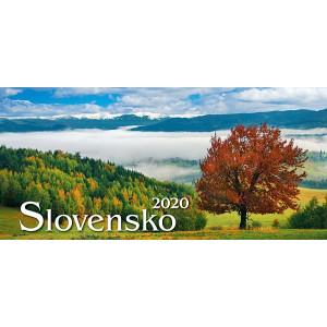 Stolový kalendár SLOVENSKO STĹPCOVÉ, 29,7 x 13,8 cm, 2020