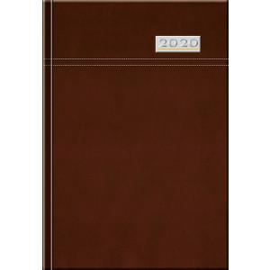 TOSCANA - DENNÝ diár, 14,2 x 20,4 cm, hnedá, 2020
