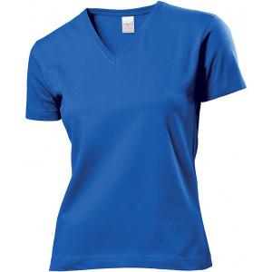Tričko STEDMAN CLASSIC V-NECK WOMEN kráľovsky modrá L