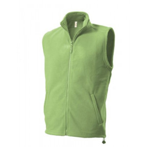 UNISEX FLEECE VEST fleecová vesta, svetlo zelená M
