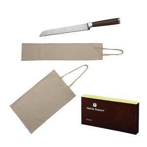 Vanilla Season ABADAN Nôž na chlieb a 2 vrecká na pečivo