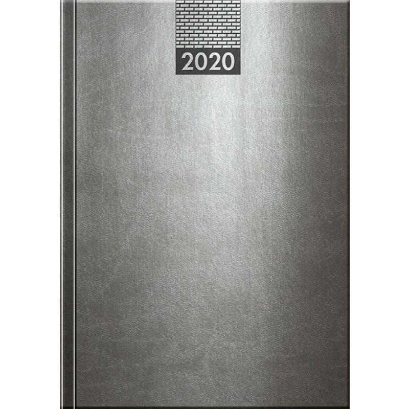 VENETIA - MANAGER diár, 17 x 24 cm, sivá, 2020
