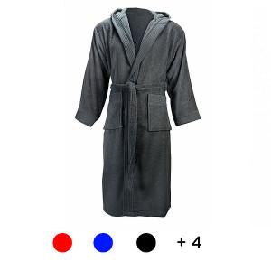 Župan unisex s kapucňou 420 gr/m2, S/M, tmavošedá